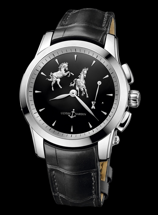 Ulysse Nardin Hourstriker Horse Watch Platinum