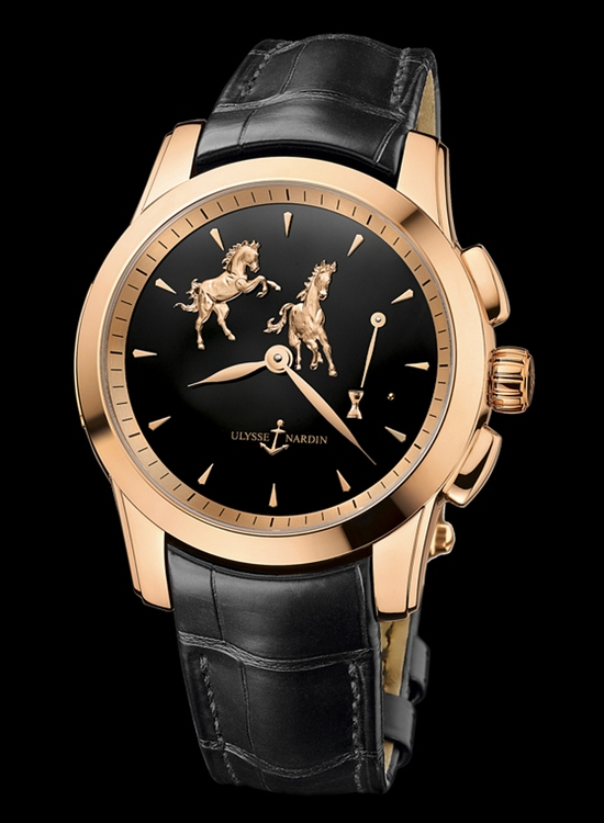 Ulysse Nardin Hourstriker Horse Watch Rose Gold