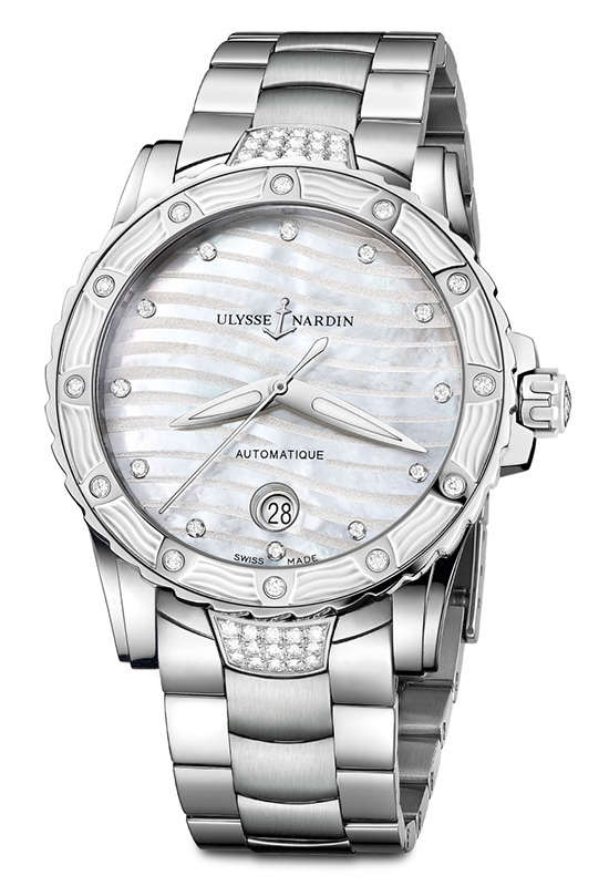 Ulysse Nardin Lady Diver Edition 2014 Silver Dial Watch 8153-180E-3C-10