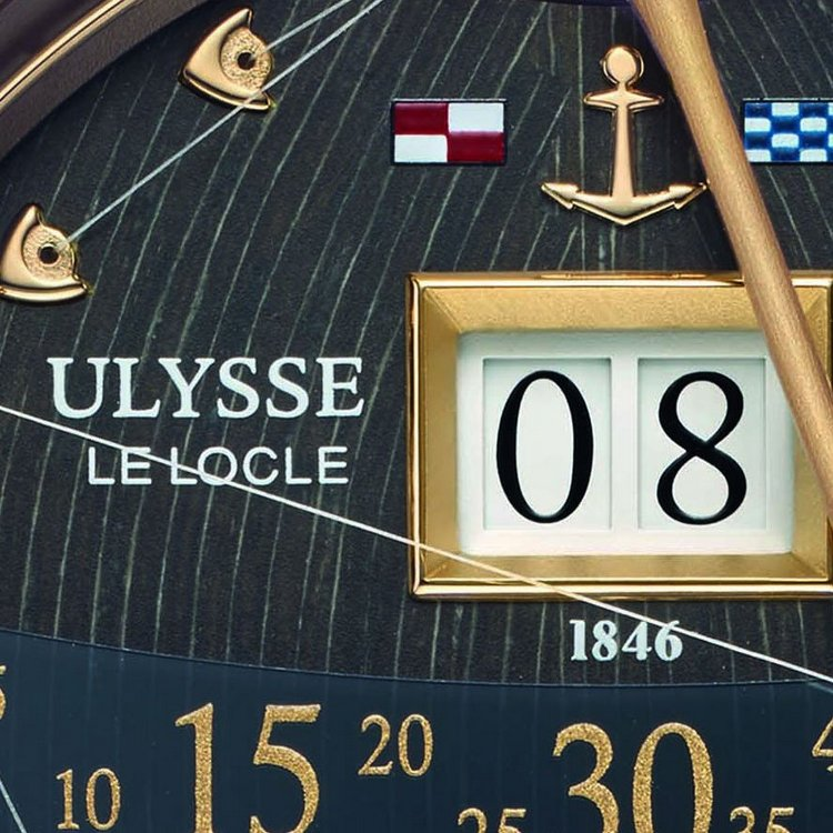 Ulysse Nardin Marine Grand Deck Tourbillon Rose Gold Watch Detail
