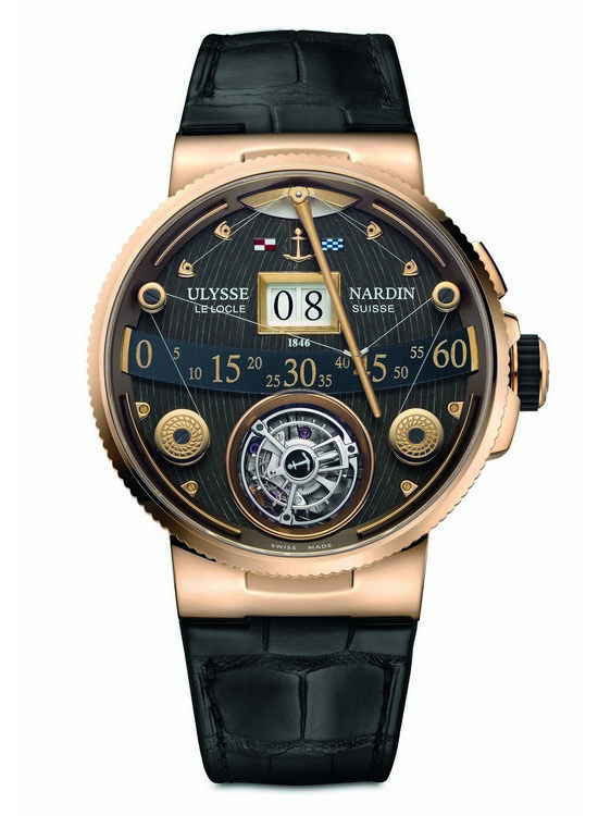 Ulysse Nardin Marine Grand Deck Tourbillon Rose Gold Watch