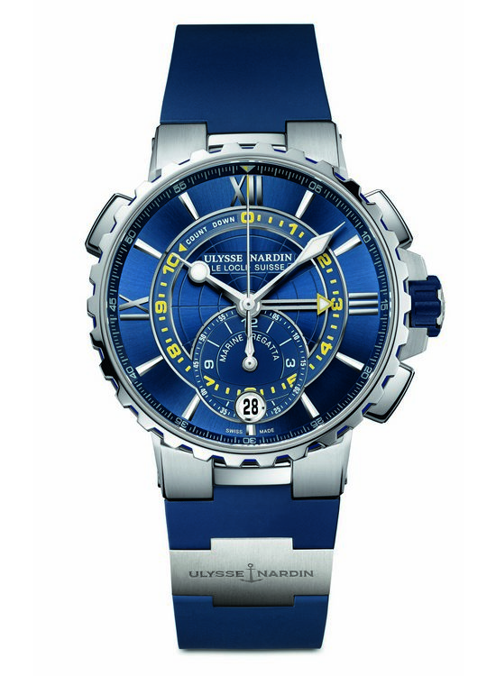 Ulysse Nardin Marine Regatta Chronograph Watch Blue
