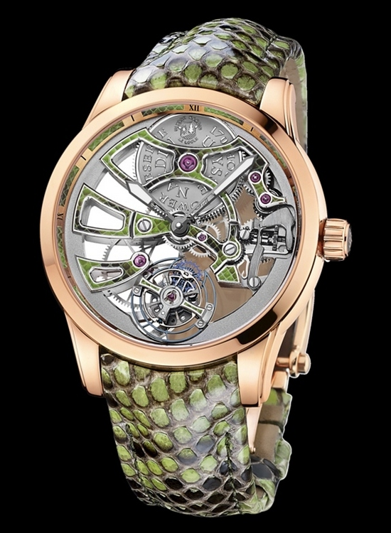 Ulysse Nardin Royal Python Skeleton Tourbillon Watch Front