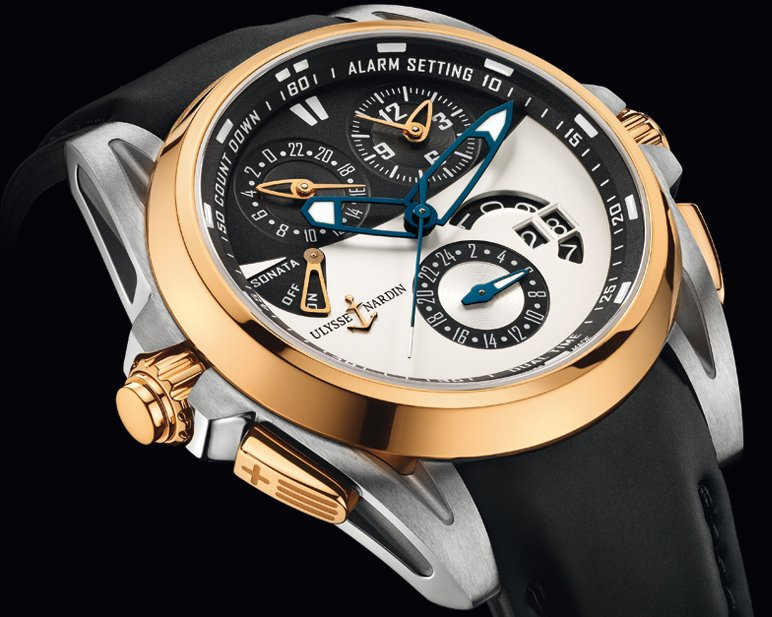Ulysse Nardin Sonata Streamline Watch Rose Gold Bezel