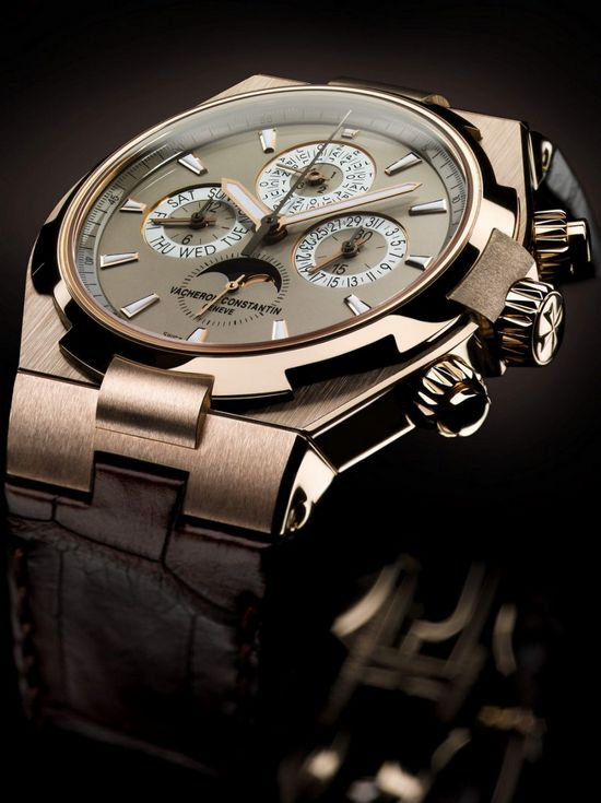 Vacheron Constantin Overseas Perpetual Calendar Chronograph Watch Side View