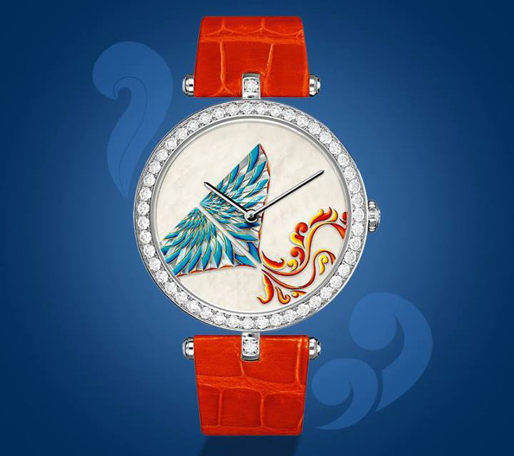 Van Cleef & Arpels Cerfs-Volants Extraordinary Dials Cyan Watch