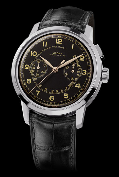 Vulcain 50s Presidents' Chronograph Watch Black