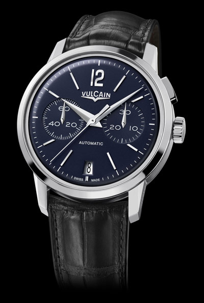 Vulcain 50s Presidents' Chronograph Watch Blue