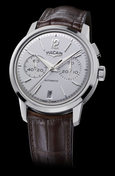 Vulcain 50s Presidents' Chronograph Watch Silver