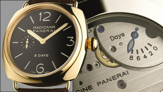 Panerai Radiomir 8 Day Power Reserve Indicator
