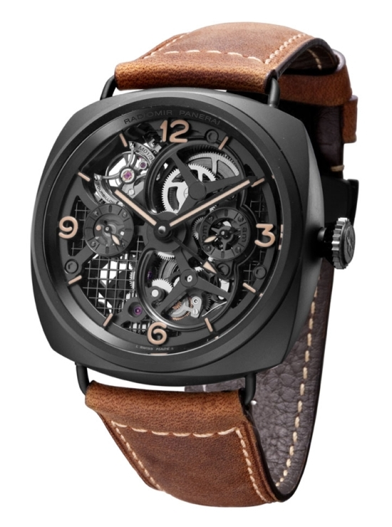 Panerai Radiomir Tourbillon GMT Ceramica 48mm PAM348 Ceramic Watch