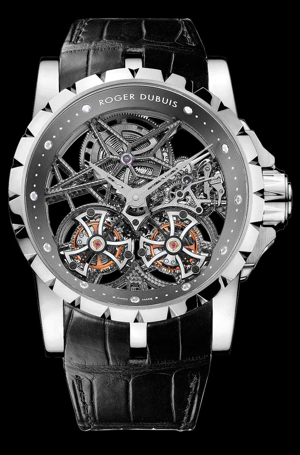 Roger Dubois Excalibur Skeleton Double Flying Tourbillon Watch