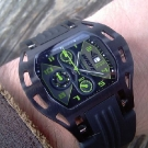 Wryst Airborne Green Watch Black Strap