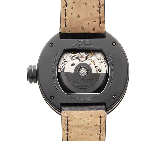 Xetum Tyndall PVD Carbon Limited Edition Watch Back