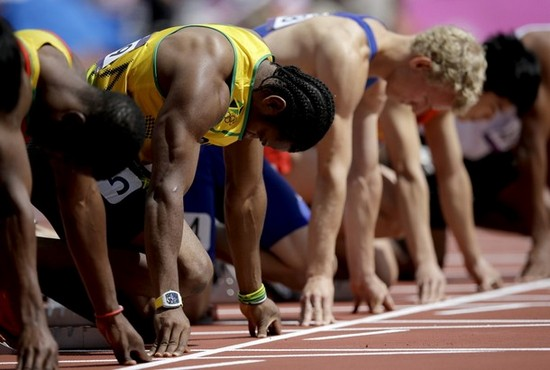 Yohan Blake - Richard Mille Watch - Starting Line at Olympic Games London