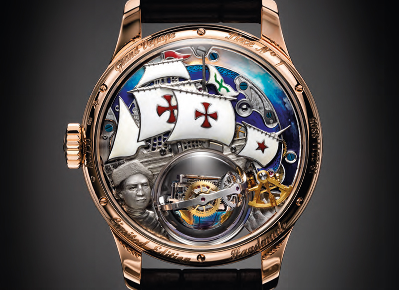 Zenith Academy Christophe Colomb Hurricane Grand Voyage Watch Back