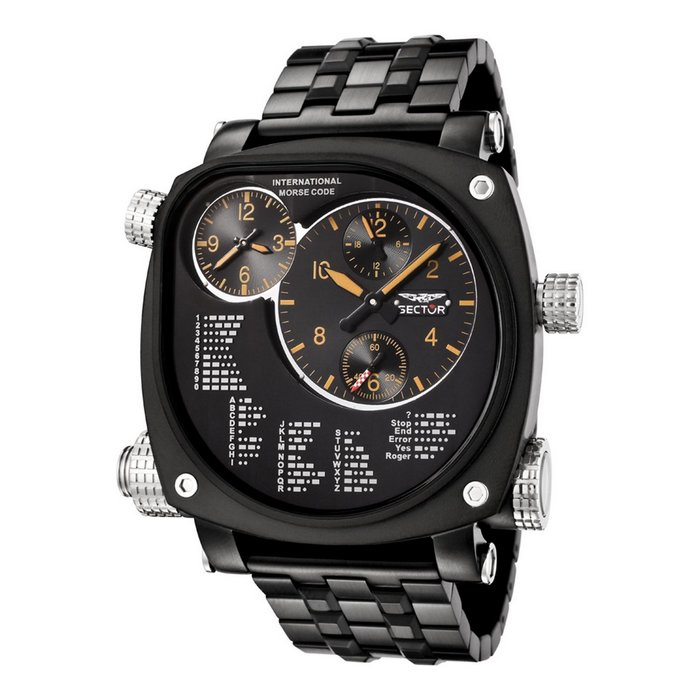 Sector Compass Collection Chronograph Dual Time Watch