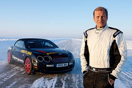 Breitling for Bentley Ice Record Juha Kankkunen