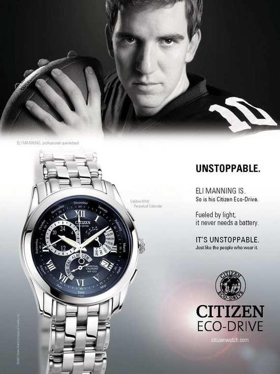 Citizen Eco Drive Watch Eli Manning