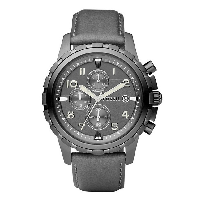 Fossil Dean Chronograph Gray Dial Watch