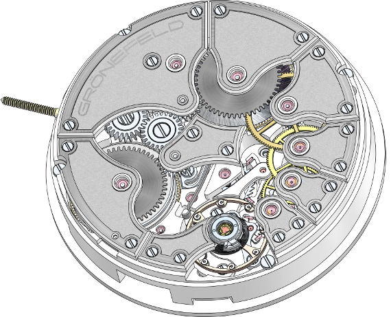 Gronefeld One Hertz caliber G-02 mechanism