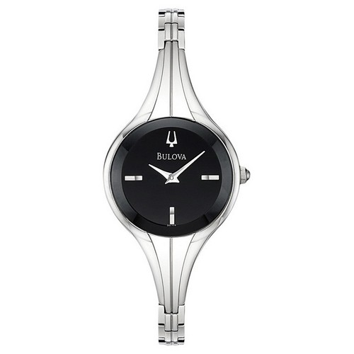 Bulova Bangle Black Dial Watch
