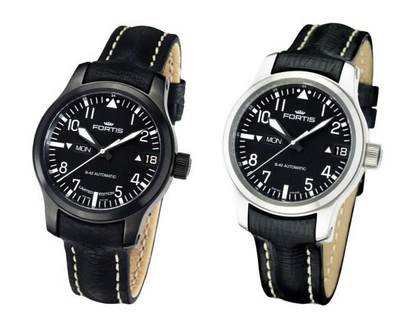 Fortis Flieger Easy-to-Read Big Day Date Watch