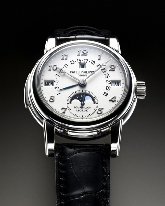 Patek Philippe Platinum Minute Repeating Perpetual Calendar Tourbillon Watch