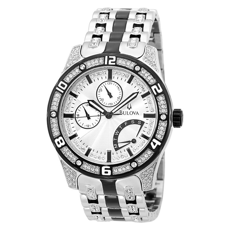 Bulova Crystal Mens 98C103 Watch