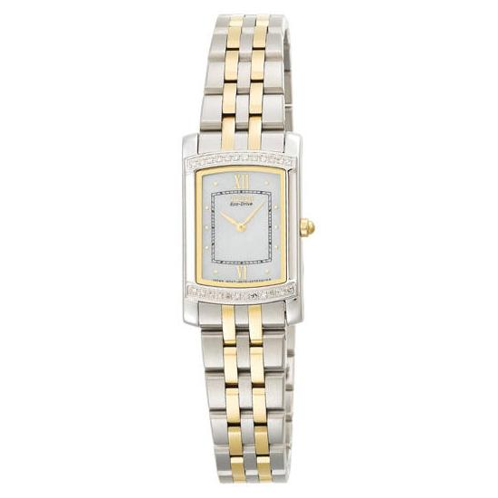 Citizen Eco-Drive Stiletto Two-Tone Diamond Accented Watch