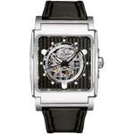 Bulova Mechanical Square Skeleton Dial Watch 96A113