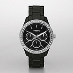Fosill Stella Resin Watch - Black Multifunction ES2157
