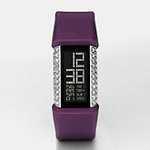 Fossil S+arck Purple Silicone Glitz Digi Watch PH1113