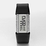 Fossil S+arck Black Silicone Glitz Digi Watch PH1114