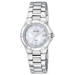 Citizen Riva Eco-Drive Diamond Accented Stainless Steel Watch  EW1530-58D