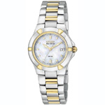 Citizen Riva Eco-Drive Diamond Accented Stainless Steel Watch  EW1534-57D
