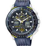 Citizen Eco-Drive Blue Angels Skyhawk A-T Chronograph Watch JY0064-00L
