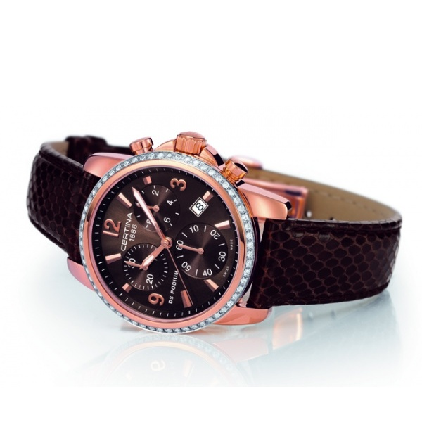 Certina DS Podium Chrono Lady Diamonds Watch