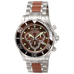 Invicta Pro Diver Elemental Watch in Wood Color 0164