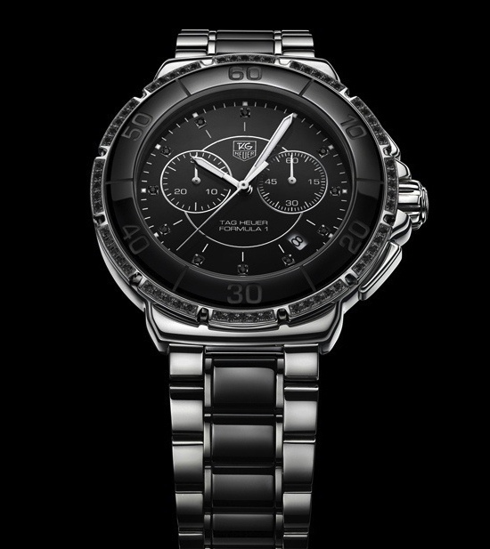 Tag Heuer Formula 1 Lady Ceramic Chronograph Black Diamonds Singapore Limited Edition Watch