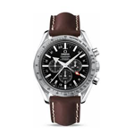 Omega Speedmaster Broad Arrow GMT Co-Axial Chronograph Watch 3881.50.37