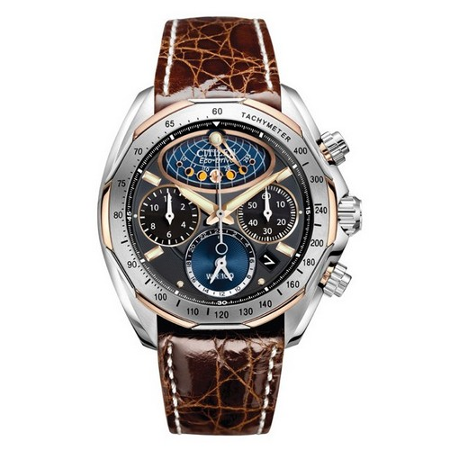 Citizen Signature Moon Phase Flyback Chronograph AV3006-09E Watch