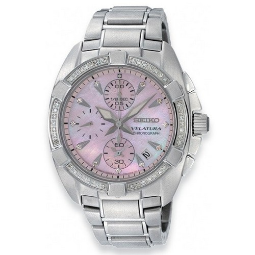 Seiko Velatura Ladies' Chronograph Watch SNDZ37P1