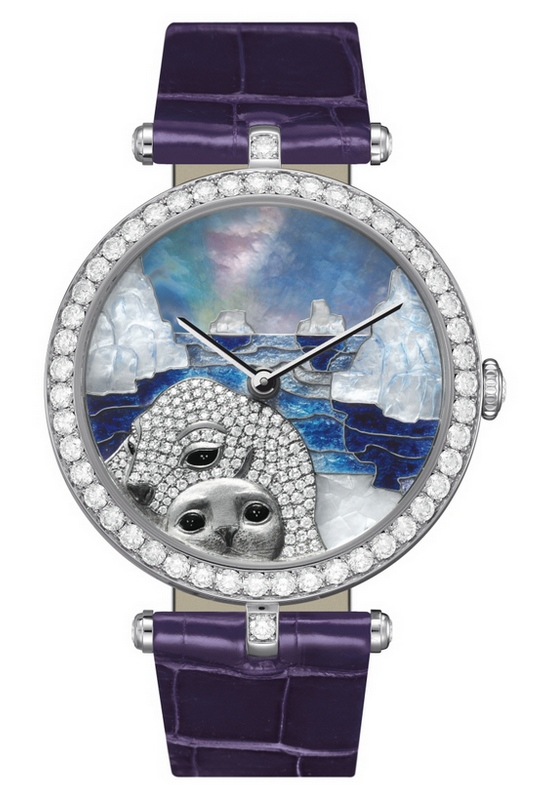 Van Cleef & Arpels Lady Arpels Polar Landscapes Seal Decor Watch
