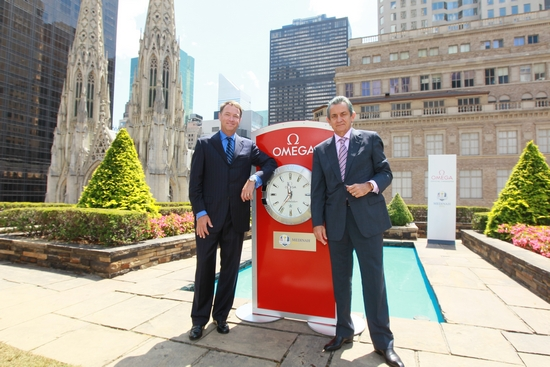 Davis Love III and Stephen Urquhart - Omega Watch Presentation