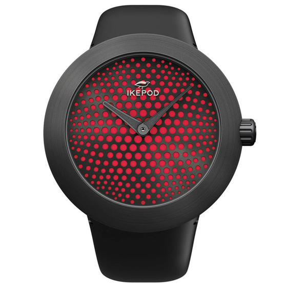Ikepod Horizon Red Dial Watch