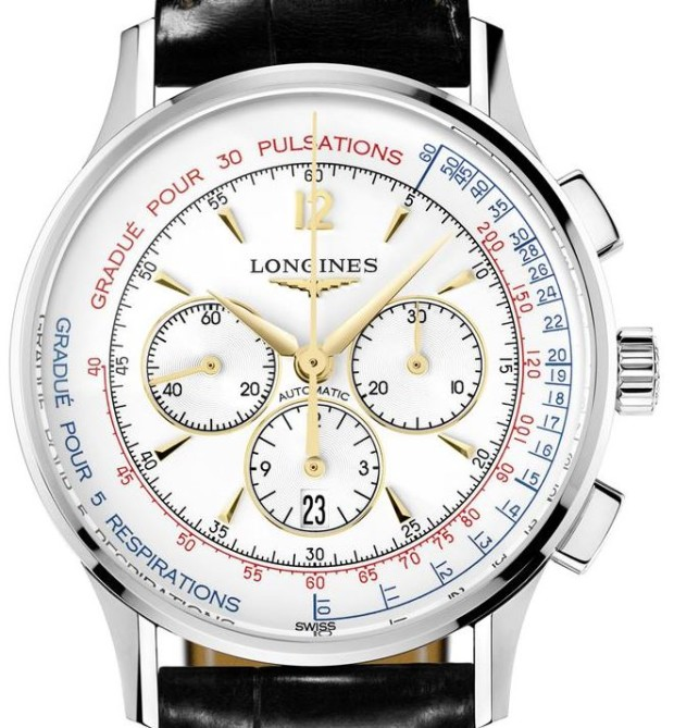 Longines Heritage Asthmometer Pulsometer Chronograph Watch Dial