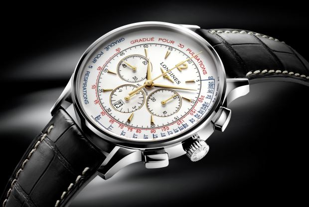 Longines Heritage Asthmometer Pulsometer Chronograph Watch