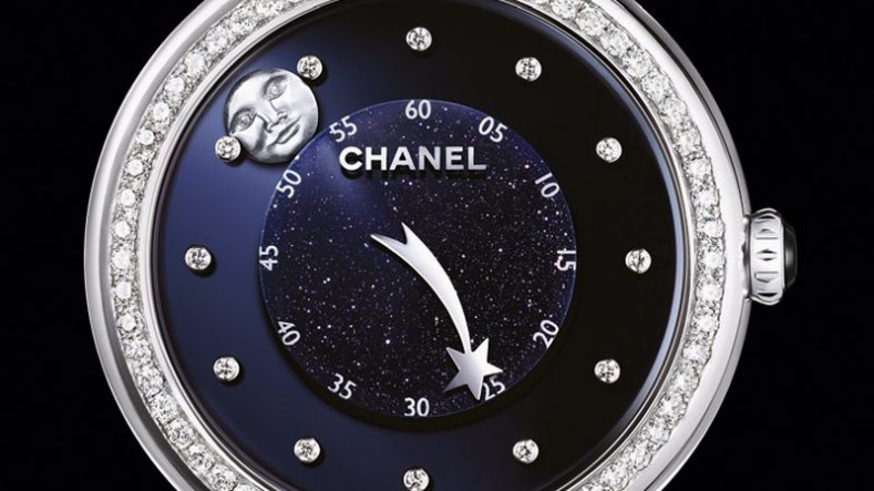 Chanel Mademoiselle Privé Moon Comet Watch Dial