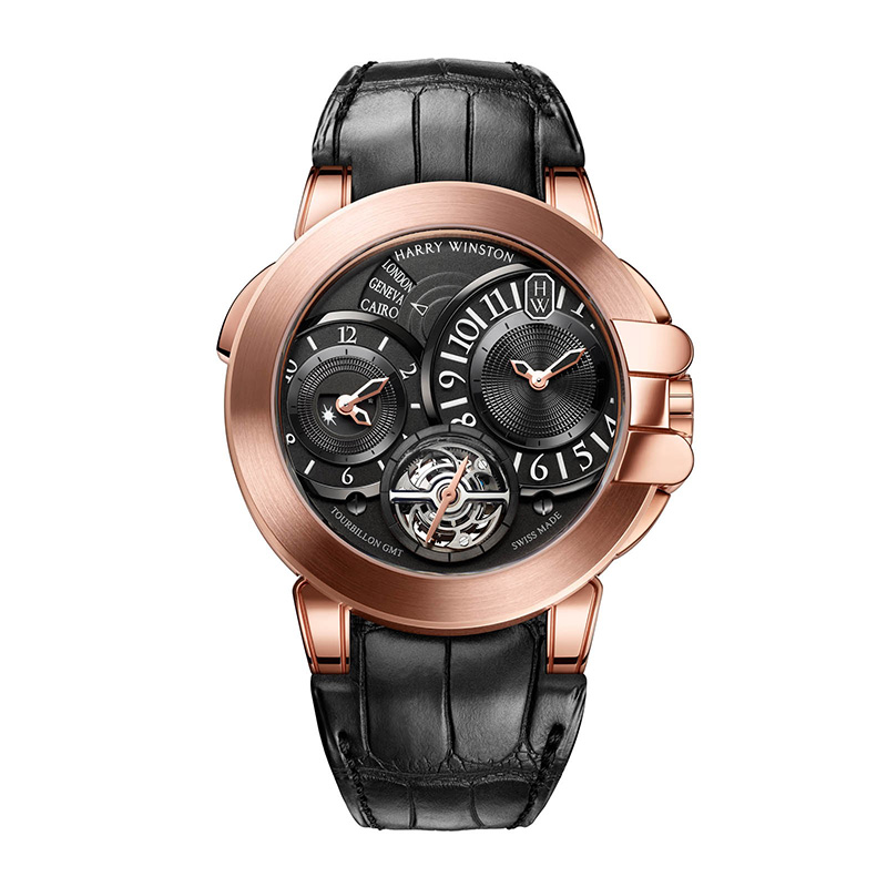 Harry Winston Ocean GMT Tourbillon Red Gold Watch